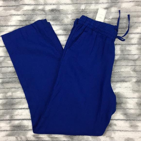 a78a83ede29 NWT Charter Club Linen pants - royal blue